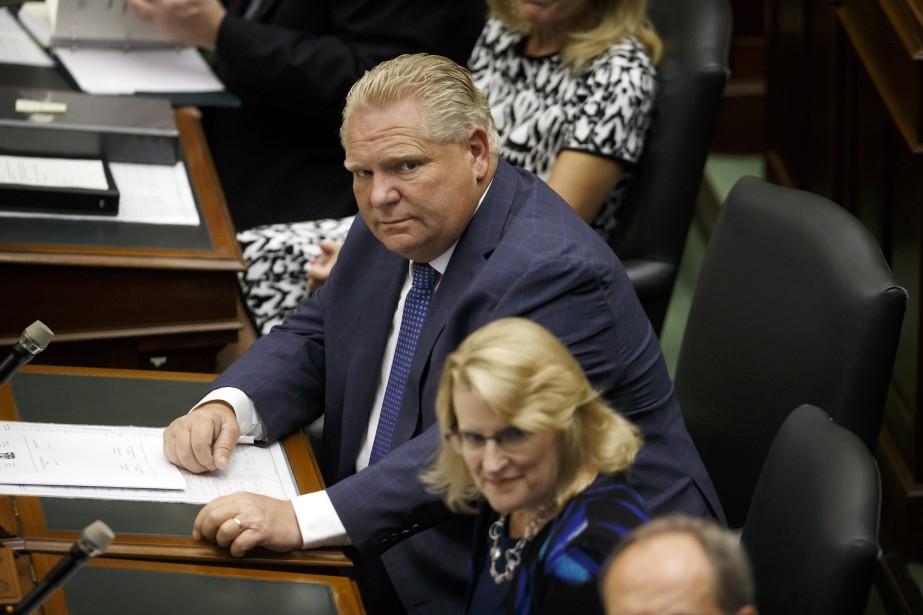 Le nouveau gouvernement de Doug Ford présente à... (PHOTO PC)