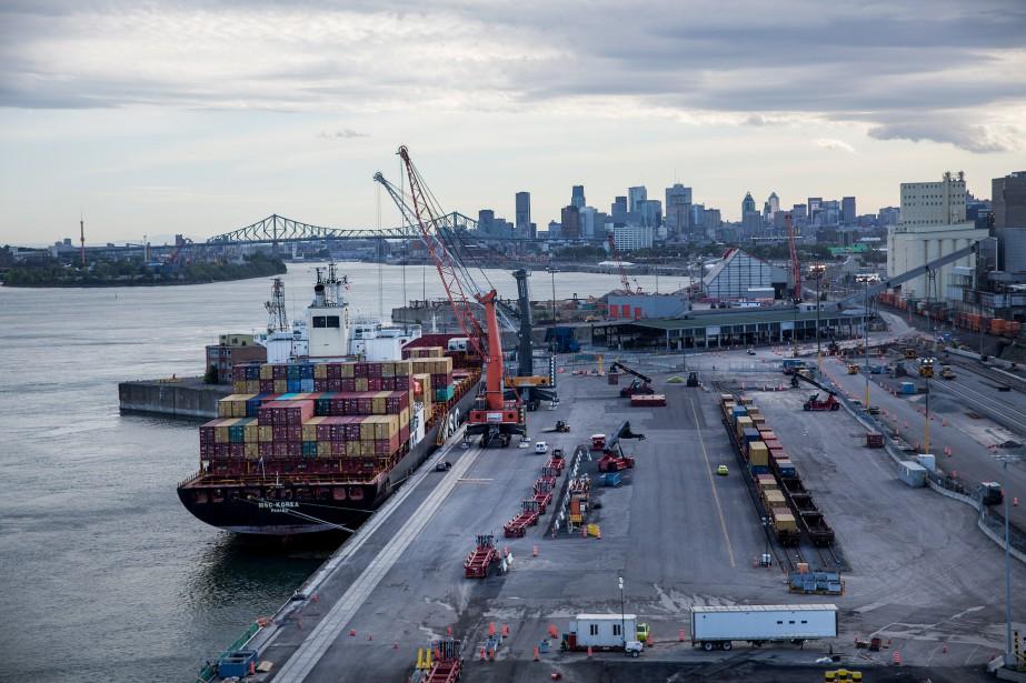 Le port de Montréal... (La Presse)