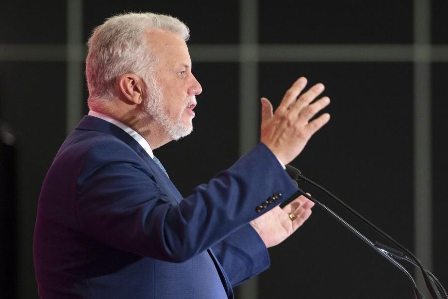 Le chef du Parti libéral du Québec, Philippe... (PHOTO Ryan Remiorz, LA PRESSE CANADIENNE)