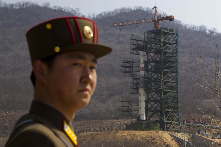 Un soldat nord-coréen posté sur le siteTongchang-ri.... (ARCHIVES AP)