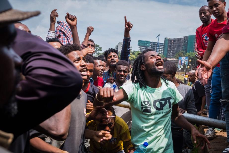 Ces violences avaient éclaté la semaine passée et... (Photo MAHEDER HAILESELASSIE TADESE, Agence France-Presse)