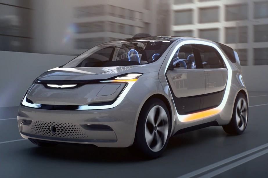 Si la Chrysler 300 est remplacée par un véhicule inspiré du prototype tout électrique Portal, Chrysler deviendrait une marque vendant exclusivement deux fourgonnettes, soit ce nouveau modèle et la Pacifica. (Photo Fiat-Chrysler)