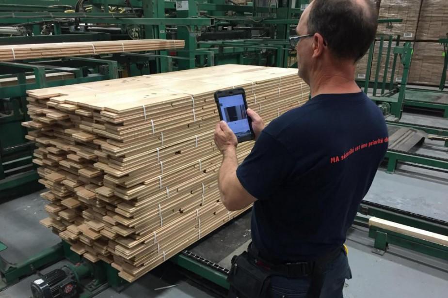 Les Bois de plancher PG utilisent des tablettes... (PHOTO FOURNIE PAR BOIS DE PLANCHER PG)