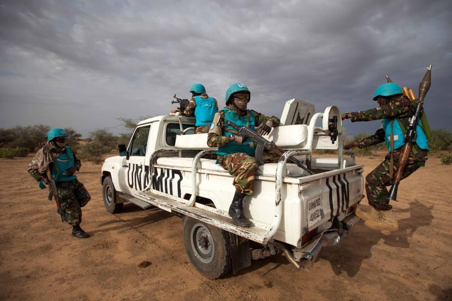 L'ONU mobilisent près de 100000Casques bleus dans le... (Photo ALBERT GONZALEZ FARRAN, archives Agence France-Presse)