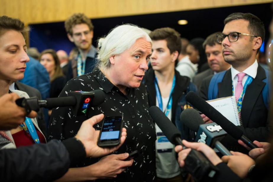 ManonMassé, co-porte-parole de Québec solidaire, au congrès annuel... (Photo EdouardPlante-Fréchette, La Presse)