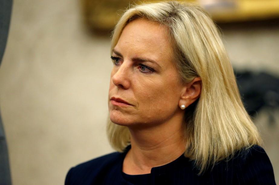 Kirstjen Nielsen, secrétaire de la Sécurité intérieure... (Photo Leah Millis, REUTERS)