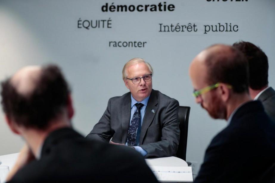 Le chef péquiste Jean-FrançoisLisée aaccordé hier une entrevue... (Photo Martin Chamberland, La Presse)