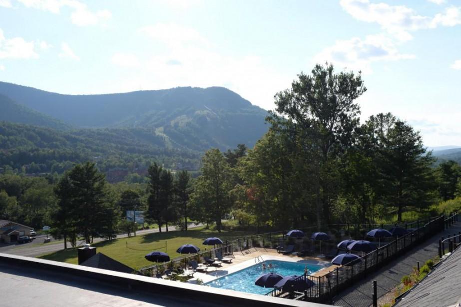 La vue du balcon... (Photo Muriel Françoise, collaboration spéciale)