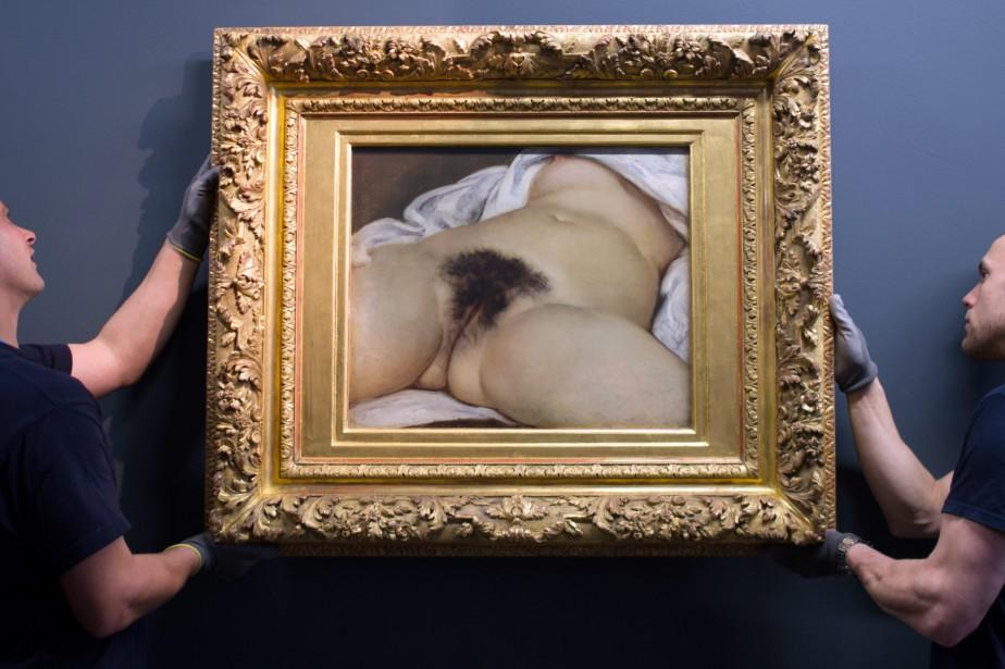 L'origine du monde de Gustave Courbet... (Photo SEBASTIEN BOZON, archives AFP)