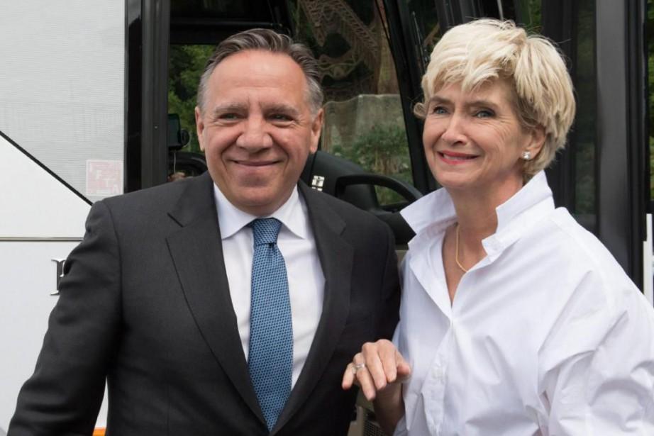 Lors d'une rencontre durant l'été avec des électeurs... (Photo Jacques Boissinot, Archives La Presse Canadienne)