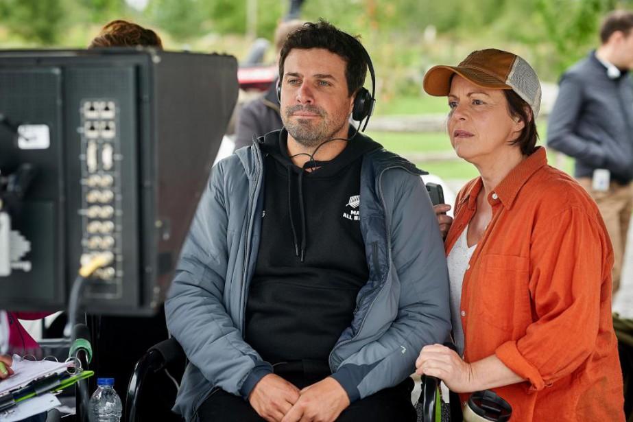 Le réalisateur Christian Laurence et la comédienne Maude... (Photo André Pichette, La Presse)