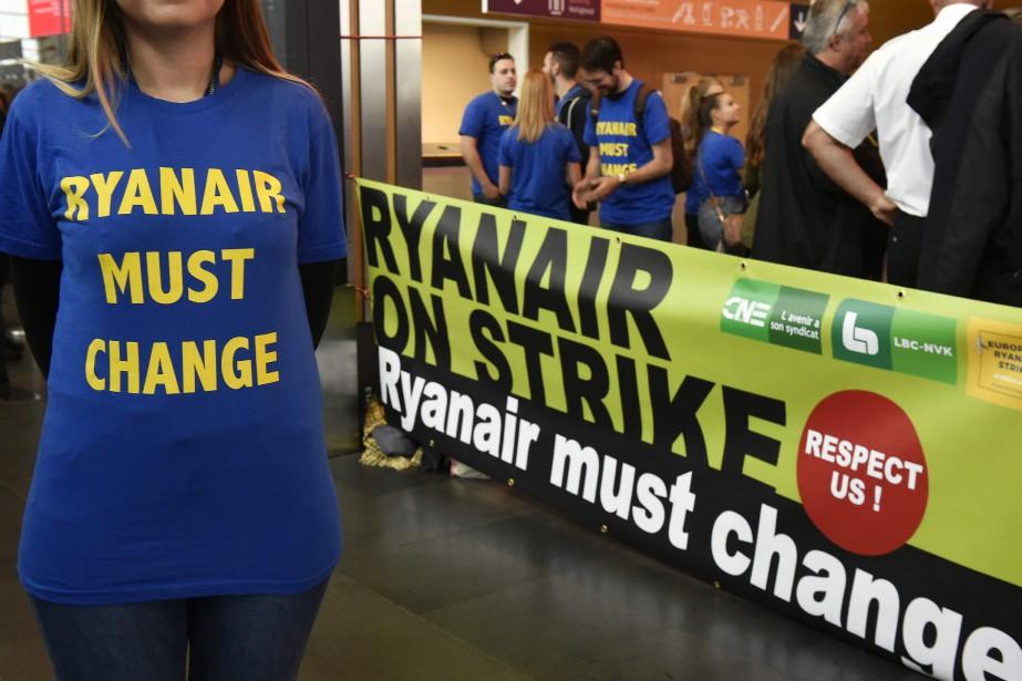 Ryanair a dû annuler plus de 200 vols... (Photo John Thys, Agence France-Presse)