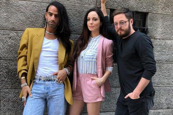 CaryTauben, Elisabetta Fantone et OlivierPrimeau, de l'émissionXOXO... (Photo tirée de Facebook)