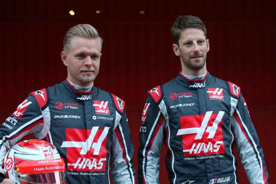 Le Français Romain Grosjean et le Danois Kevin... (Photo REUTERS)