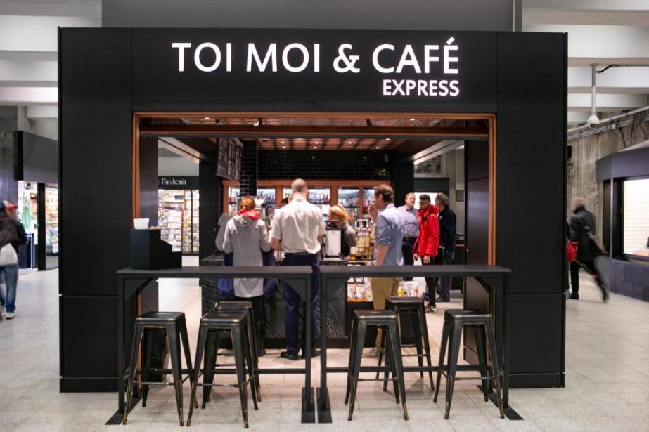 L'enseigneToi, Moi&Café a ouvert récemment un comptoir express... (Photo David Boily, La Presse)