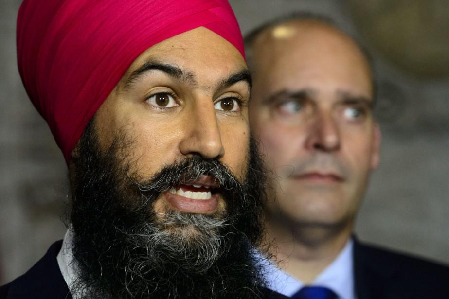 Le chef du NPD, Jagmeet Singh... (PHOTO Sean Kilpatrick, ARCHIVES LA PRESSE CANADIENNE)