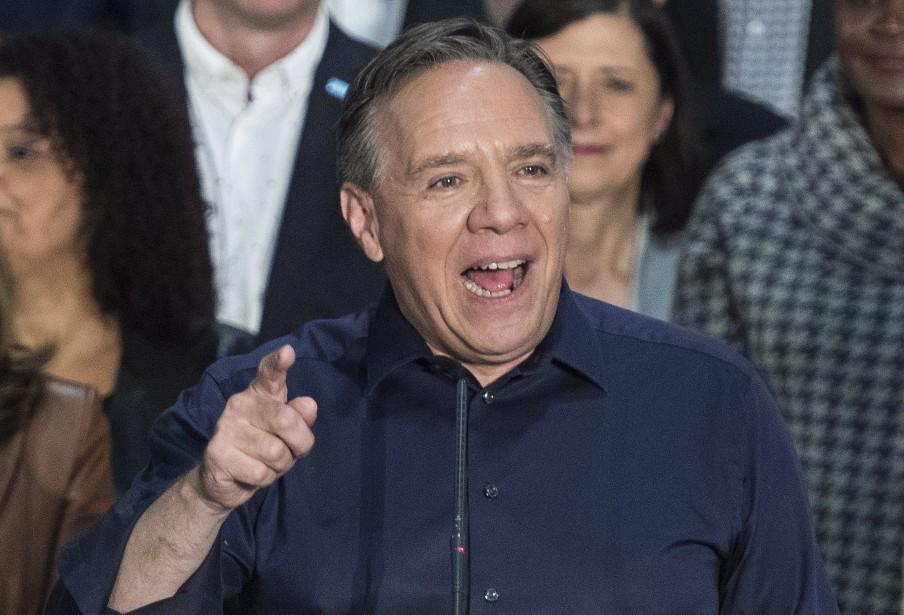 Le chef de la CAQ, François Legault, était... (Photo graham Hughes, La Presse canadienne)