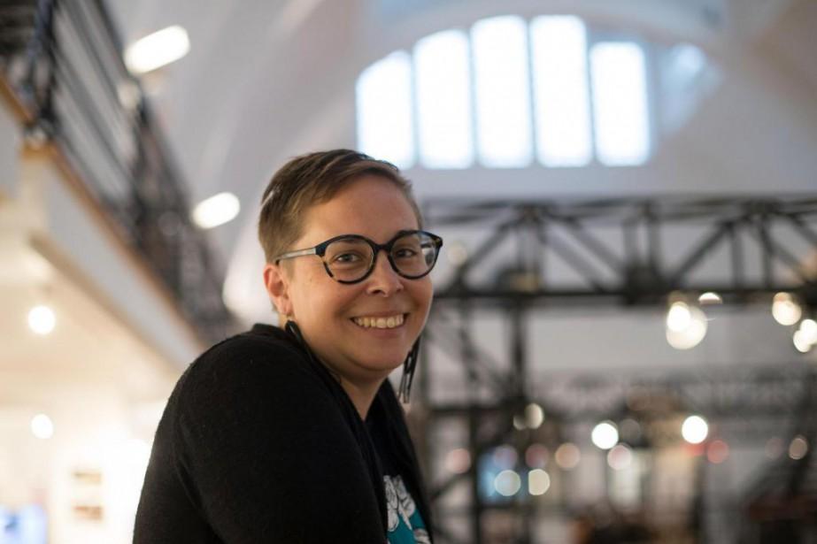 NoémiePomerleau-Cloutier,animatrice à l'organisme d'alphabétisationl'Atelier des lettres... (PHOTO OLIVIERJEAN, La Presse)