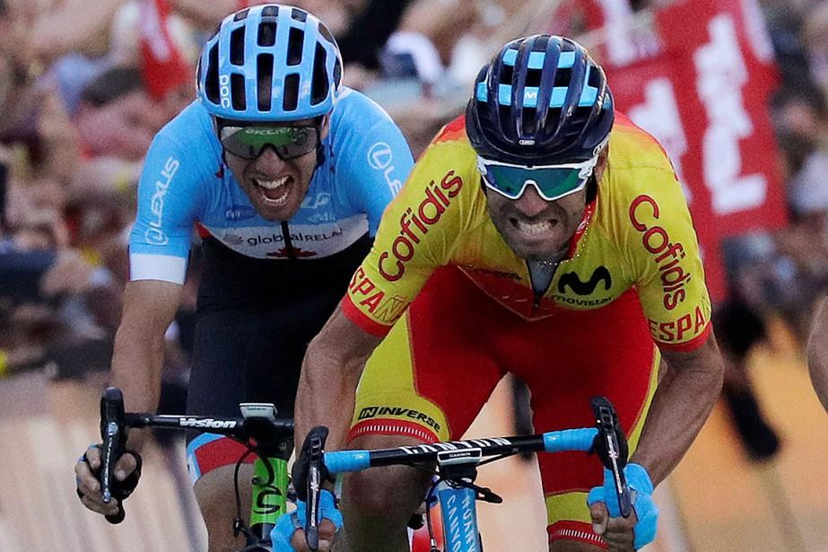 Michael Woods (à gauche) a terminé au troisième... (PHOTO HEINZ-PETER BADER, REUTERS)