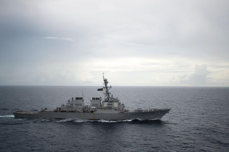 L'USS Decatur «conduisait une opération de liberté de... (Photo AFP)