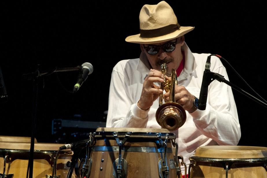 Le trompettiste et percussionniste de latin jazz Jerry... (Photo LUIS ROBAYO, archives AFP)