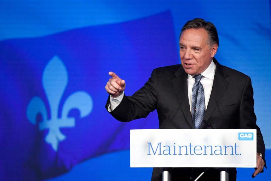 C'était cette année pour François Legault les élections... (Photo Paul Chiasson, La Presse Canadienne)