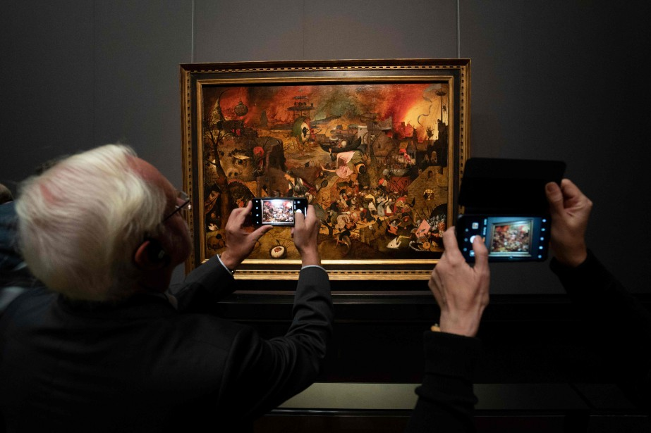 L'oeuvre Dulle Griet du peintre flamand Pieter Bruegel... (Photo JOE KLAMAR, AFP)