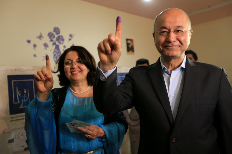 Barham Saleh et sa femmelors des législatives de... (PHOTO REUTERS)