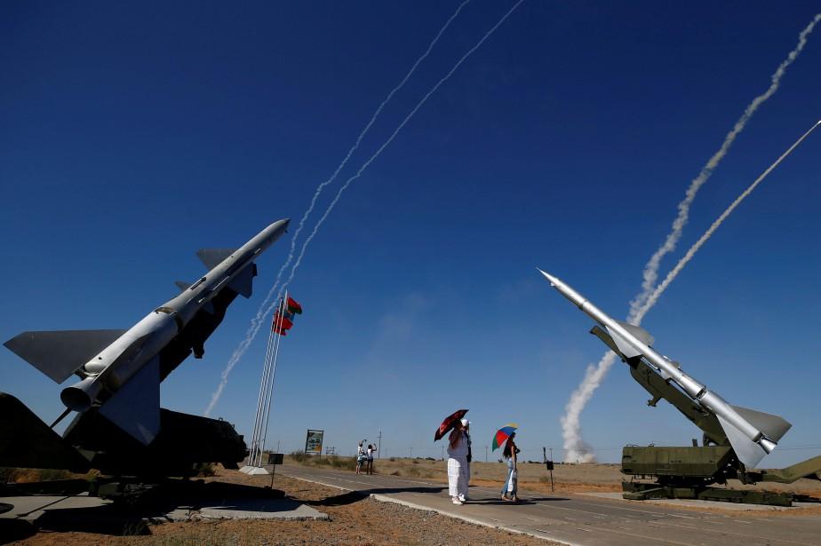 Démonstration de missiles S-300 lors d'une compétition àAstrakhan,... (PHOTO REUTERS)