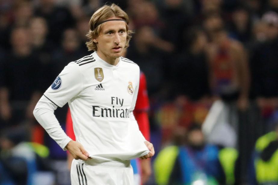 Luka Modric lors d'un match du Real Madrid... (PHOTO REUTERS)