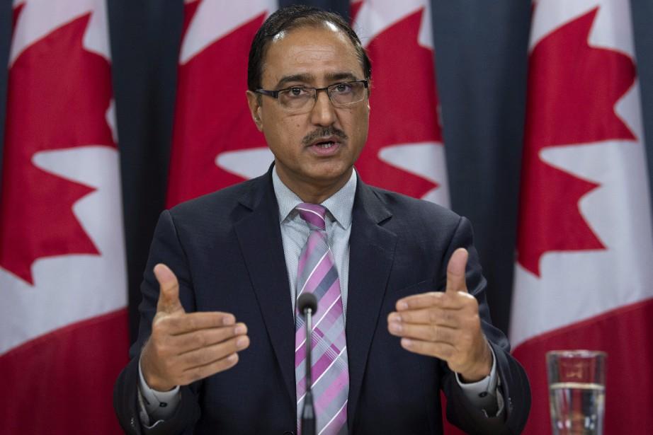 En conférence de presse mercredi, le ministre des... (THE CANADIAN PRESS)