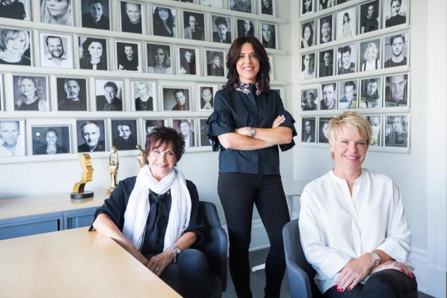 Camille, Marie-Claude et Nathalie Goodwin, del'Agence Goodwin... (Photo Olivier PontBriand, La Presse)