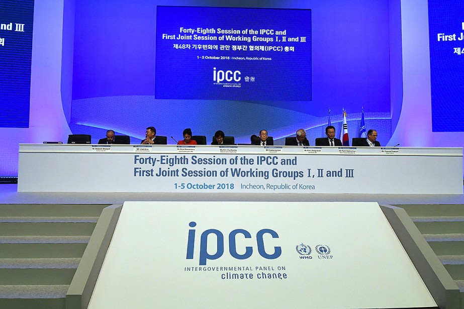 Legroupe des experts du climat de l'ONU (Giec)... (Photo JUNG YEON-JE, AFP)