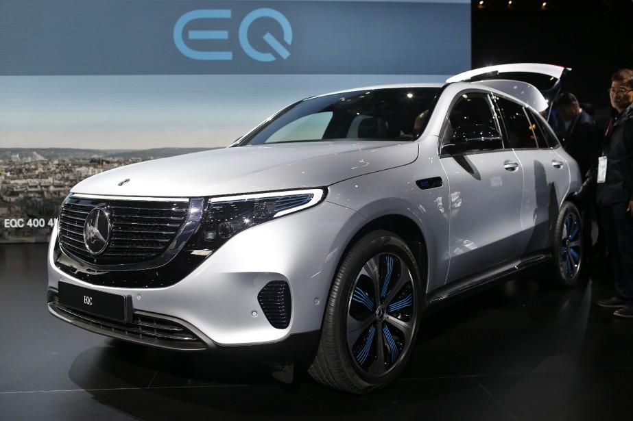 Le Mercedes EQC au Mondial de l'auto de Paris le 2 octobre. (AP)