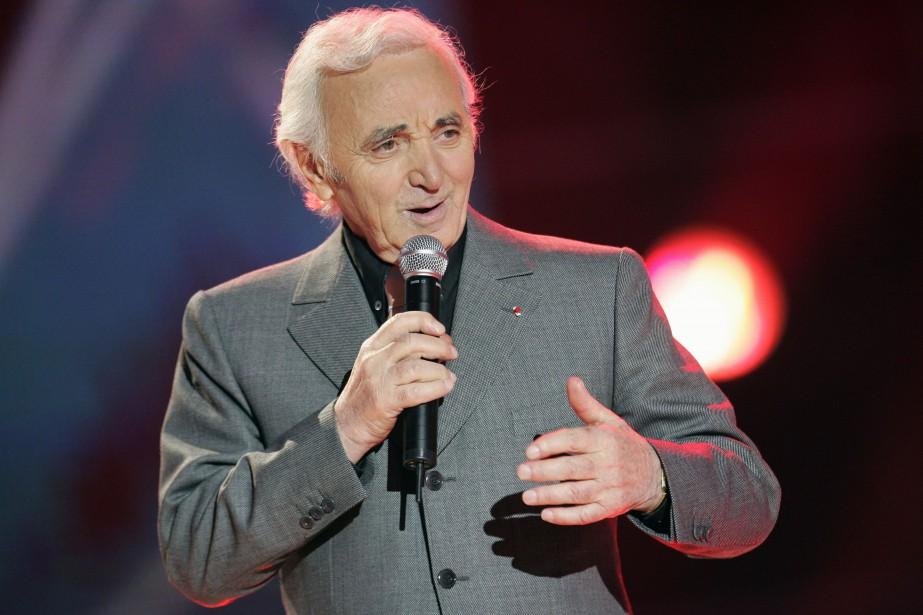 Le chanteur Charles Aznavour, décédé lundi à l'âge... (Photo BERTRAND GUAY, archives AFP)