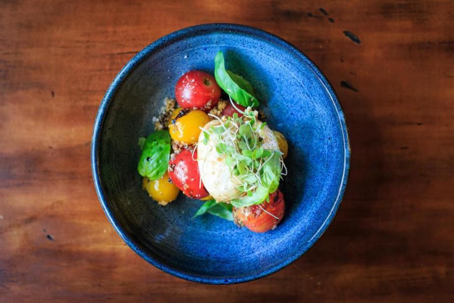 Burrata avec tomates cerises grillées et vin cuit... (Photo Edouard Plante-Fréchette, La Presse)