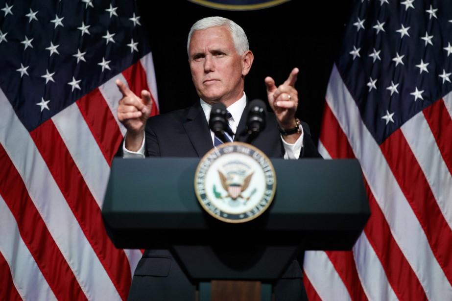 Mike Pence a accusé Pékin d'agression économique à... (ARCHIVES AP)