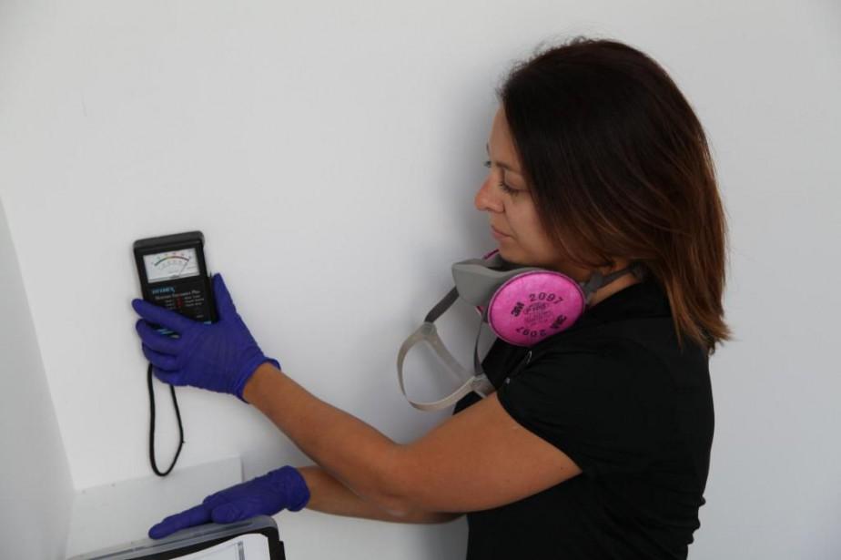 Michel-Ann Champagne, inspectrice en qualité de l'air... (Photo fournie par Expert Bâtiment)