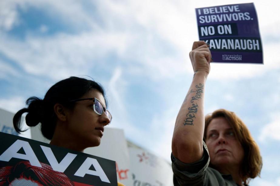 Des manifestants opposés à la nomination du juge... (Photo Tom Brenner, archives The New York Times)