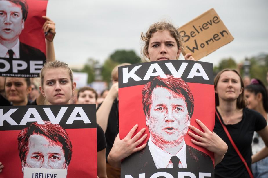 La confirmation deBrett Kavanaugh a été accompagnée de... (PHOTO AFP)