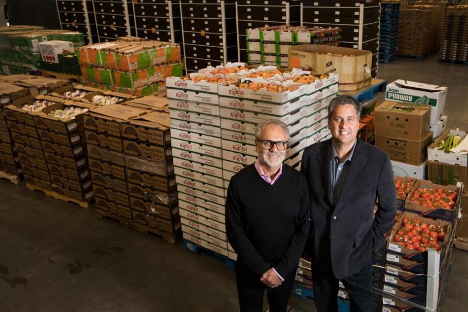 Les frères Alain et Michel Routhier, propriétaires exploitants... (Photo Ivanoh Demers, La Presse)