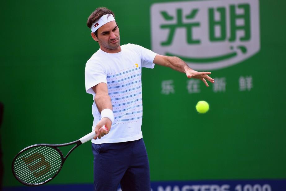 Roger Federer participe au tournoi de Shanghai cette... (PHOTO JOHANNES EISELE, AFP)