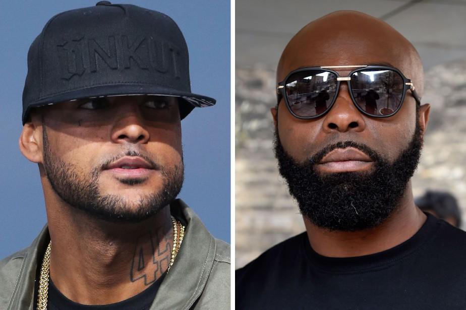 Les rappeurs Booba (à gauche) et Kaaris (à... (Photo DOMINIQUE FAGET et LOIC VENANCE, archives AFP)