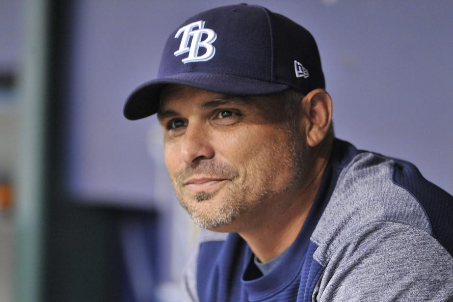 Le gérant des Rays de Tampa Bay, Kevin... (Photo Steve Nesius, AP)