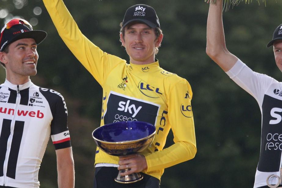 Le vainqueur du dernier Tour de France, Geraint... (Photo François Mori, archives AP)