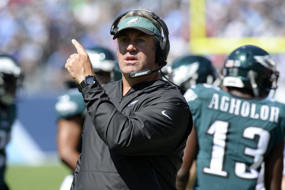 L'entraîneur-chef des Eagles de Philadelphie, Doug Pederson.... (Photo Mark Zaleski, AP)