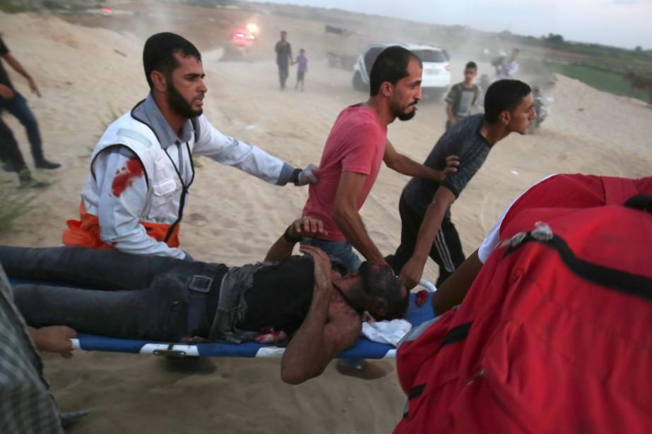 Depuis plus de dix ans, Gaza étouffe sous... (Photo SAID KHATIB, Agence France-Presse)