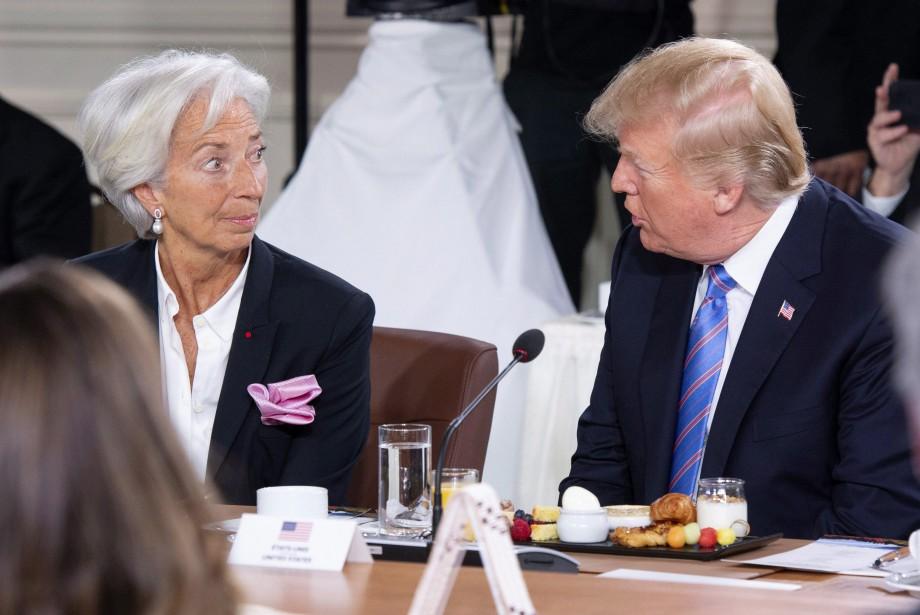 Christine Lagarde et Donald Trump lors du sommet... (PHOTO PC)