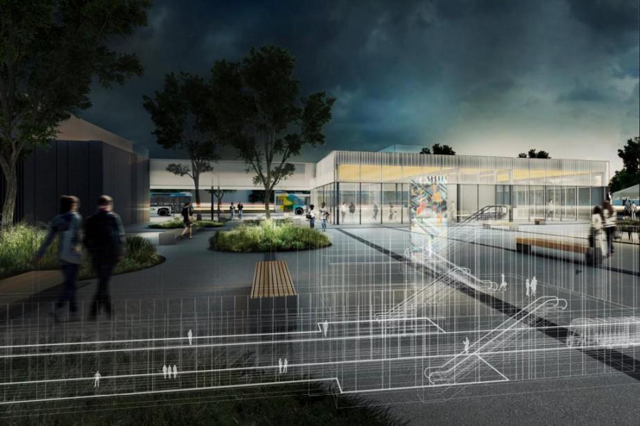Le Réseau express métropolitain (REM) comptera cinq stations... (Image fournie par le Réseau express métropolitain)