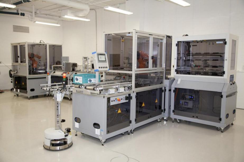 Le laboratoire cyber-physique, installé au siège social du... (Photo fournie par le CRIQ)